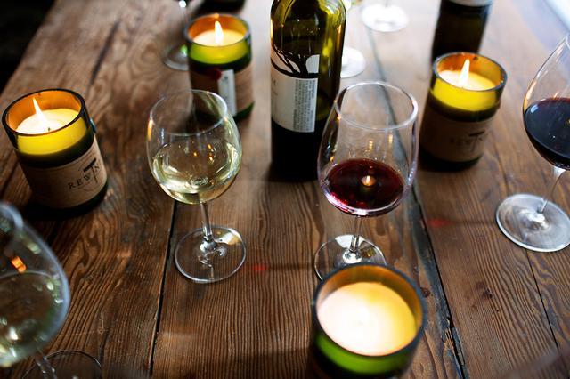 画像3: ワインボトルを再利用した手作りキャンドル『REWINED』