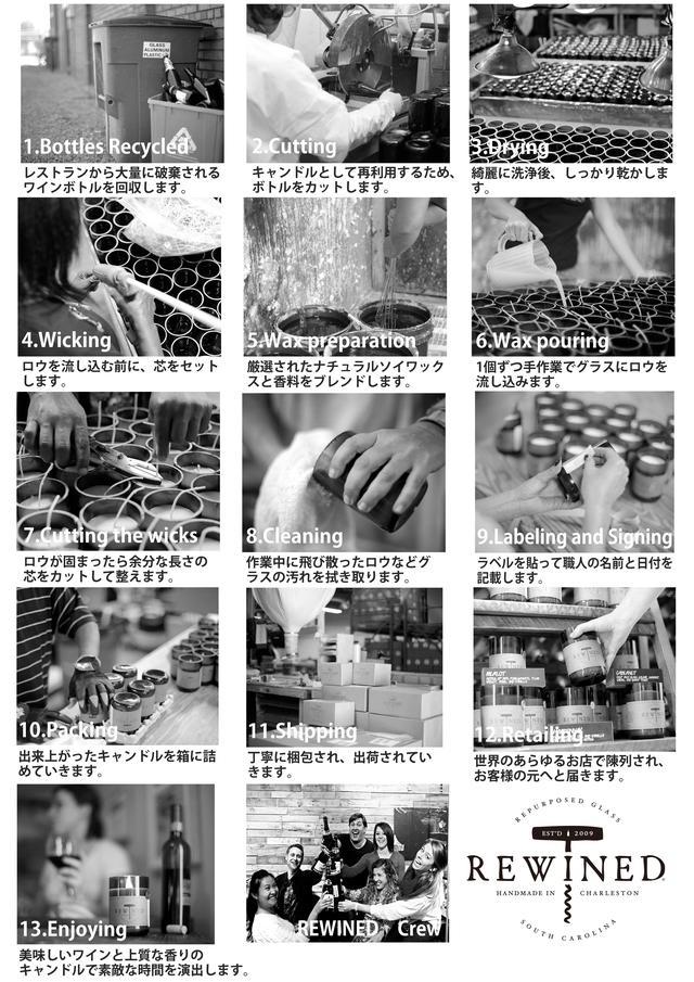 画像4: ワインボトルを再利用した手作りキャンドル『REWINED』