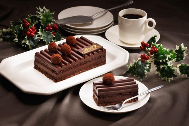 画像1: リンツのクリスマス用濃厚ショコラケーキが11月2日に予約開始!