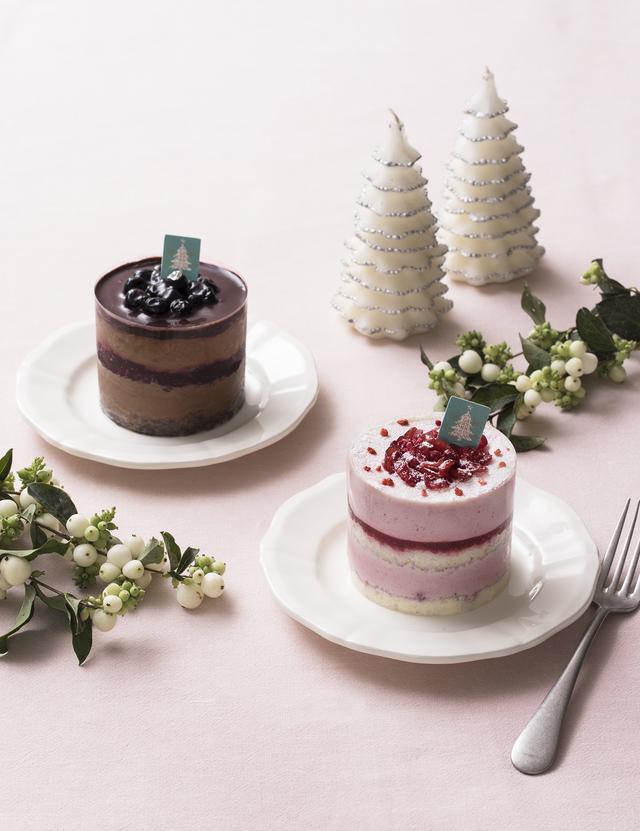 画像: ふたりのクリスマスを彩る小さめサイズのクリスマスケーキ「パ・ドゥ ベリー」「パ・ドゥ ショコラ」