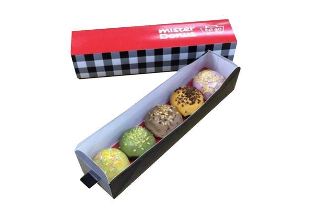画像: ●to go アソートセット・ボール 500円 ふんわりとした食感のミニボールサイズのイースト生地に5種類のフレーバーコーティングを施し、かわいい専用ボックスにセット。ギフトとしてご利用ください。