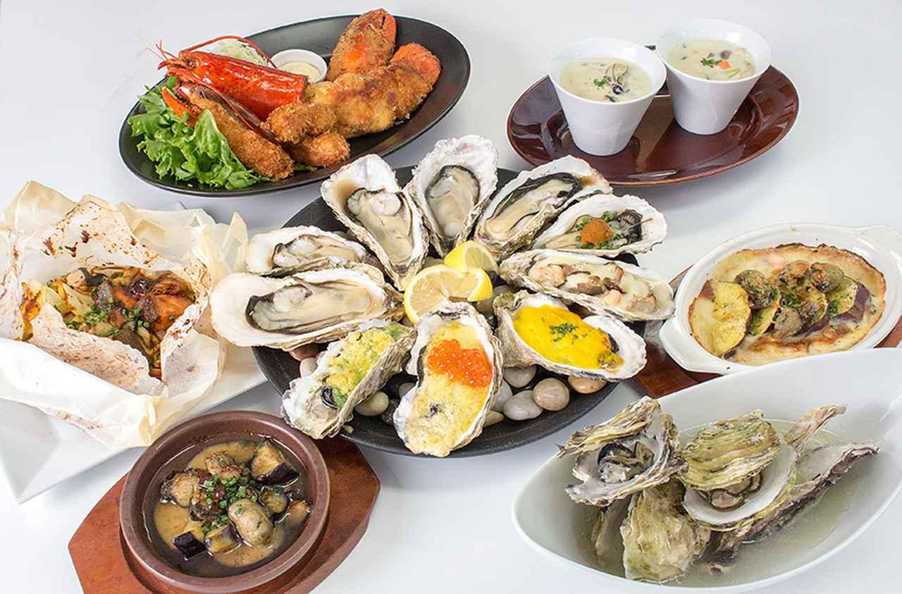 画像2: 生牡蠣・カキフライなど人気牡蠣料理18品含むオイスターバーの30品のテーブルオーダーバイキング!