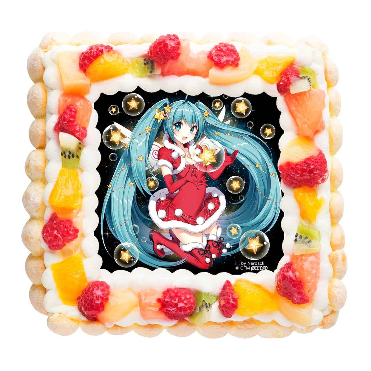 画像1: 「初音ミク」のクリスマスデザインケーキ