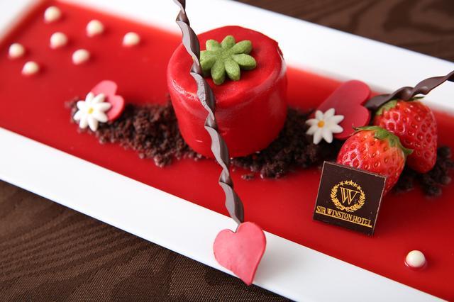 画像1: ■イタリアンレストラン「リストランテ マンジャーレ」では『恋する苺 バレンタイン デザートブッフェ』