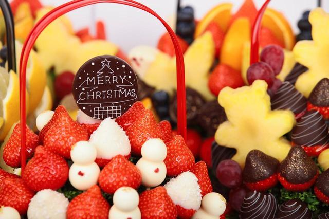 画像1: 食べられる花束『フルーツブーケ』クリスマスバージョン登場!