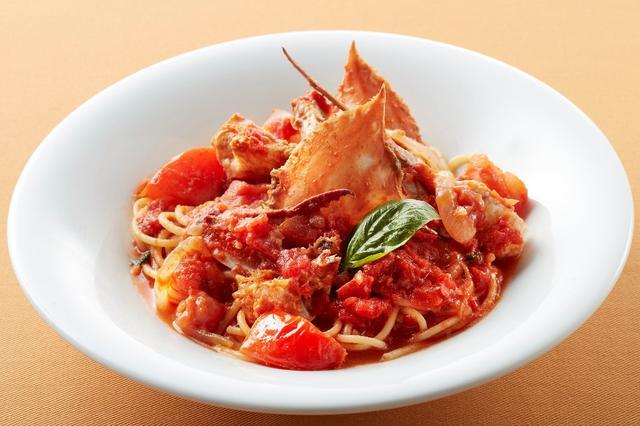 画像: 渡り蟹の旨みたっぷり!トマトソーススパゲッティ 999円