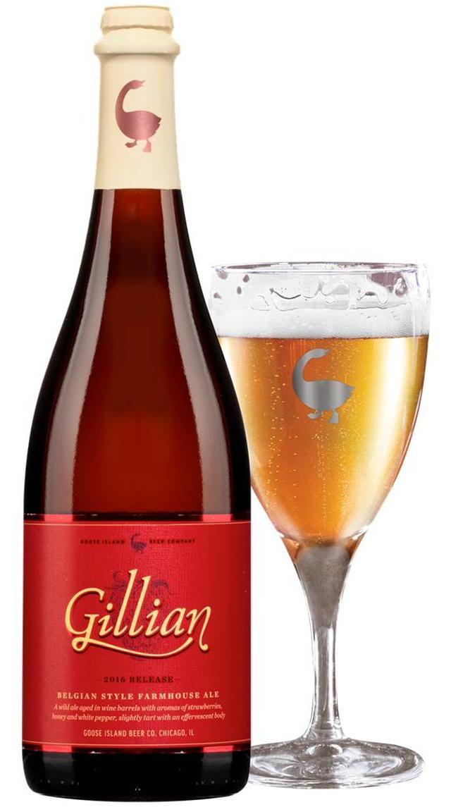 画像: Gillian~ストロベリーのファームハウスエール~ 本体価格:4,320円(税込)※765ml x 1本 発売日:2016年12月15日(木)より楽天市場にて販売開始 白コショウ、ストロベリー、はちみつの見事な調和を堪能できるクラフトビール。グースアイランドのマイスターの妻の得意料理にインスパイアを受けて誕生しました。ベルジャンイーストに加えシャンパンイーストも使用した、ファームハウスエールです。 スタイル:Belgian Style Wild Ale アルコール度数:8.7% 苦味(IBU) :少なめ 色味:Champagne ホップ:Amarillo モルト:2-Row,Pilsen, Torrified Wheat 最適なグラス:Wide Mouth Glass フードペアリング:ローストチキン、レモンクリームを添えたホタテのソテー チーズペアリング:ブラータチーズ item.rakuten.co.jp