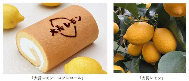 画像1: 「大長レモン」を使用したスフレロール