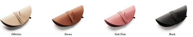 画像: 製品名 :Pouch Pals サングラスケース 材質 :イタリアンレザー カラー :オフホワイト、ブラウン、 ダフトピンク、ブラック 重量 :45g サイズ :17.0×7.0×4.0(cm) 価格 :¥10,000(税別)