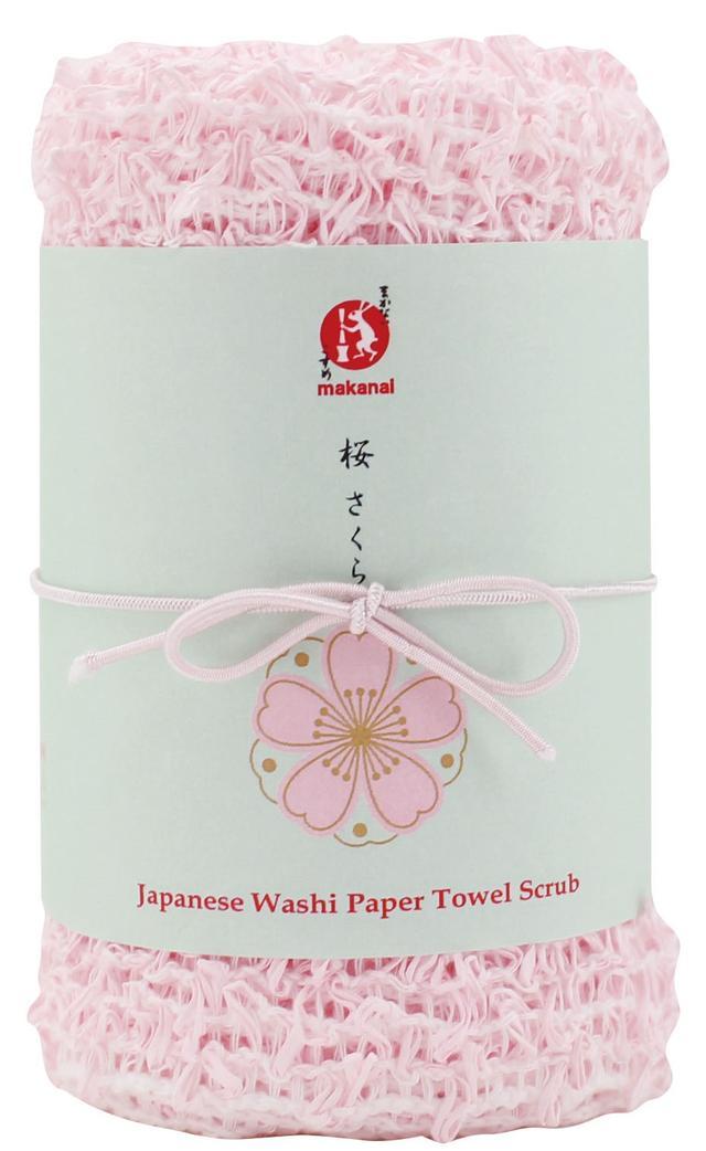 画像: 和紙タオル 和紙と綿を織りあげた浴用タオル。 泡立ちも良く、耐久性の高いのでくり返しお使いいただけます。 お肌を傷つけにくく、余分な皮脂をさっと洗い流せます 。 【容量/価格】1枚入り/¥1,200(税抜)