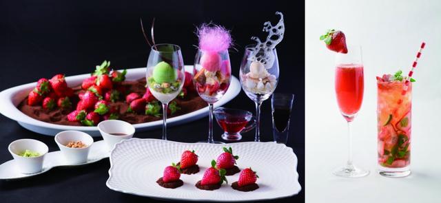 """画像1: レストランで楽しむ""""いちご狩り""""、魅惑のデザインパフェ、鮮やかな彩りのカクテルが勢揃い!"""
