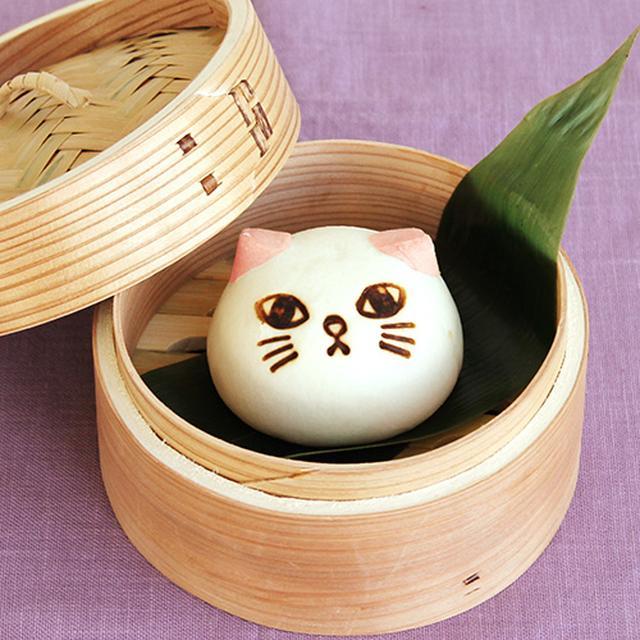 画像1: ツンデレにゃんの猫の形をした中華まん「ニャムチャ」シリーズに「肉まん」が新登場!