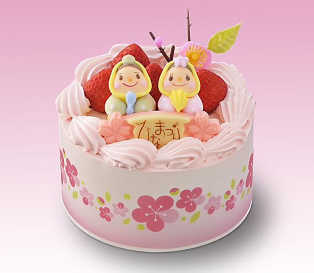 画像: 価 格: 直径12cm、3~4人分/¥2,300(税込¥2,484) 特 長: スポンジに苺と生クリームをサンドして苺風味生クリームで仕上げました。ふわふわスポンジのやさしい食感と生クリームの乳味に苺の甘酸っぱさが調和する、ピンクのかわいいデコレーションケーキ。