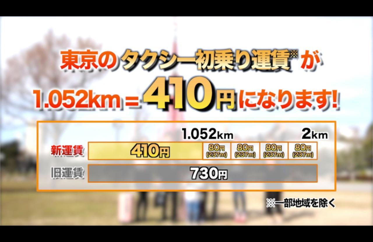 画像2: 初乗り410円の『ちょい乗りタクシー』スタート