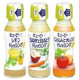 画像: 【キユーピー ドレッシング「緑キャップ」シリーズ】 「緑キャップ」シリーズは、果実酢と果汁を組み合わせた、食材の風味を引き立てるさわやかなドレッシングです。シンプルなオイル&ビネガータイプで、フルーツや豆類などいろいろな食材を使った「パワーサラダ」などのサラダに最適です (商品の詳細はキユーピーアヲハタニュース2017年 No.1参照)。