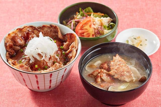 画像: かみふらのポークの豚丼膳 栗がにの鉄砲汁付き  1,399円
