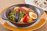 画像: 彩り野菜と濃厚ベーコンのスパイシースープカレー 雑穀米セット  1,099円