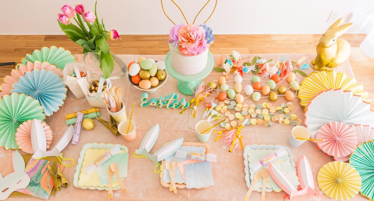 画像: 【パーティースタイリング】 子どもと一緒に楽しむイースター・パーティーは、パステルカラーをふんだんに使って、春らしく華やかにスタイリング