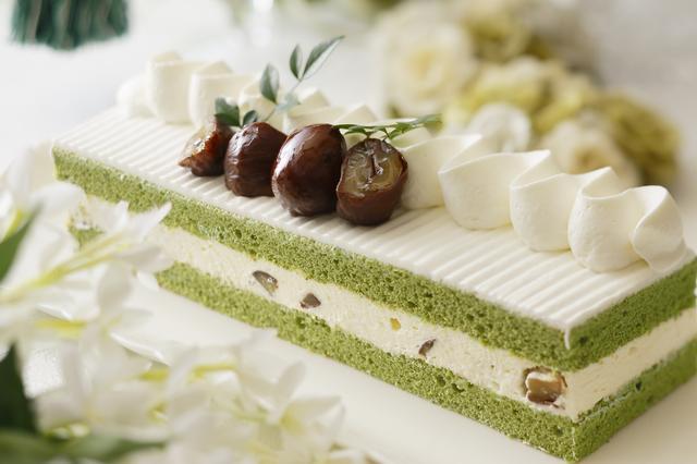 画像: 3. 栗と抹茶のショートケーキ