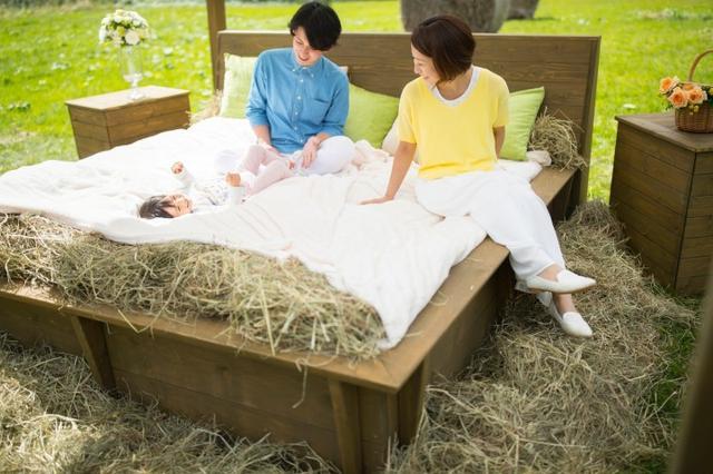 画像: 快適な牧草ベッド