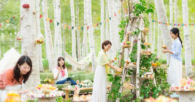 画像: 「白樺スイーツツリー」で優雅に楽しむトマムピクニック|星野リゾート トマム【公式】|グリーンシーズン