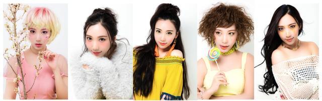 画像: 左から:Sakura, Kawaii, Mermaid, Shine, Zawachin