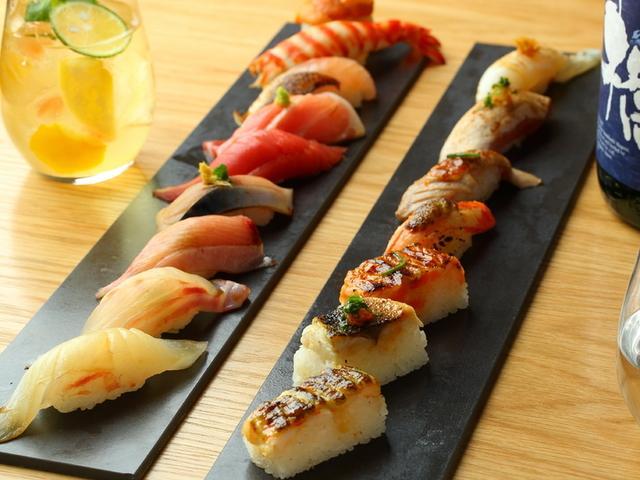 画像: おまかせ握り極9貫・炙り寿司7貫