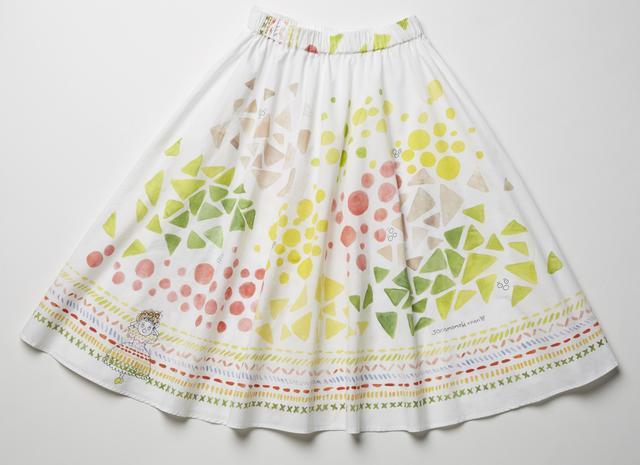 画像: ホコモちゃんスカート 【acuarera】(水彩画) 予約開始日:4月20日