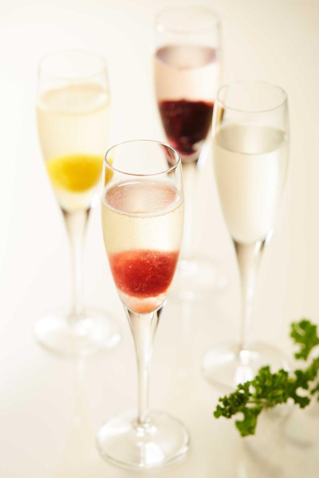 画像3: 果肉と果汁たっぷりのアイスを使ったスパークリングカクテルも!