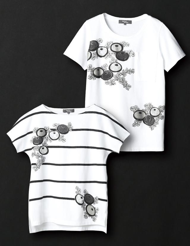 画像: 肩衣の光琳菊文様(こうりんぎくもんよう)をTシャツのモチーフに。