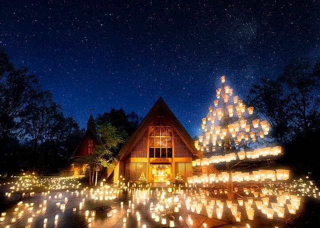 画像2: ランタンの灯りが森を照らす幻想的な時間…