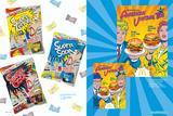 画像: (左)スーパーレモンキャンデーシリーズ パッケージ/(右)アメリカン ヴィンテージ '80sポスター