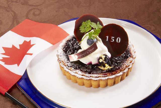 画像: ≪カナダフェア≫ カナディアンブルーベリーのベイクドチーズタルト|カフェレストラン・テラス 特別フェア|レストラン|舞浜|ホテルオークラ東京ベイ