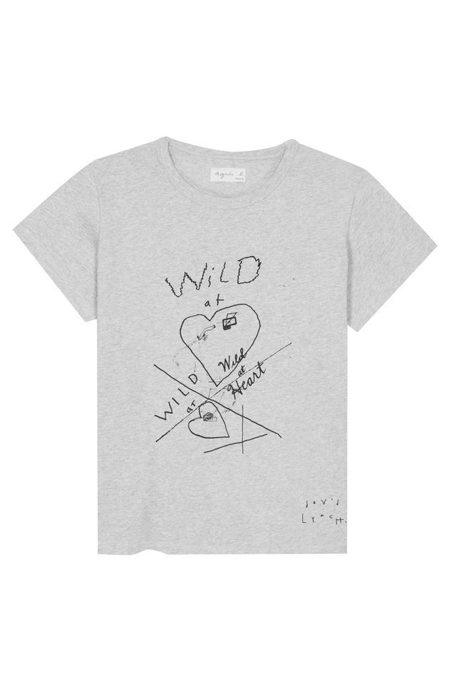 画像: 【アニエスべー】デヴィッド・リンチ監督ニコラス・ケイジ主演1990年のカンヌ映画祭パルムドール受賞作品『Wild at heart』をモチーフにしたTシャツ。FEMME 9,200円(税抜き) / HOMME 11,000円(税抜き)。6月発売予定