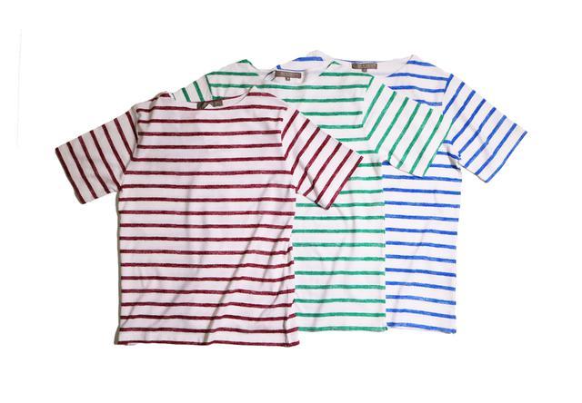 画像: ユナイテッドアローズ アウトレット×サクラクレパスのボーダーボートネックTシャツが新発売