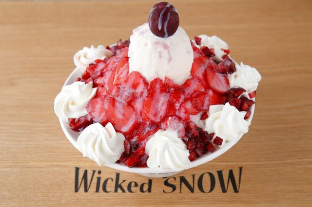画像1: 韓国発かき氷カフェ『Wicked snow』から日本限定メニュー登場!