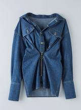 画像1: デニムシャツ 税込16,200円 デニムワイドパンツ 税込12,960円