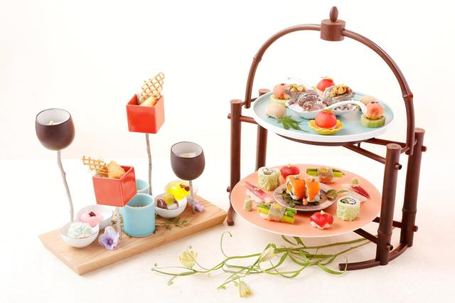 画像1: Japanism Afternoon Tea Style 華凛 夏~Temarisushi~