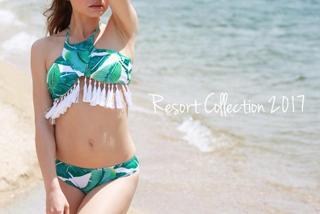 画像: 足長効果のあるビキニやレトロ感漂うハイウェスト水着に注目!