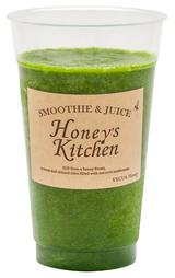 画像: 小松菜、レタス、パクチー、リンゴ、蜂蜜 グリーン野菜と擦りおろしリンゴの食感が満足感のあるヘルシーなジュースです。パクチーの風味がふわっと香ります。 M size ¥594 S size ¥486 <野菜のキッチン>