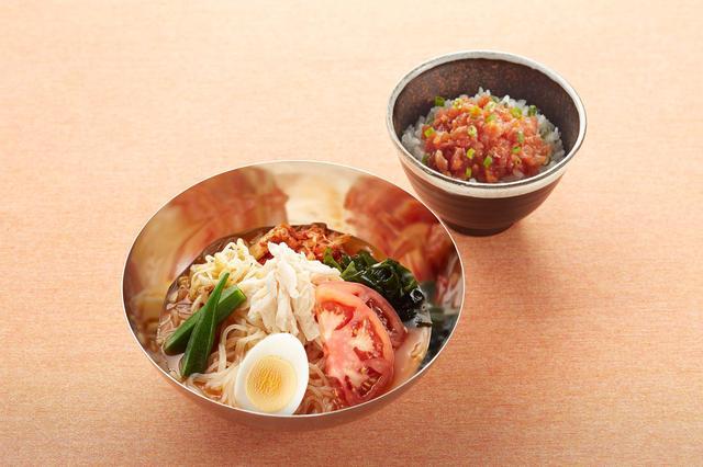 画像: 本格!盛岡冷麺&ピリ辛まぐろ丼付き 1,169円
