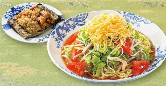 画像: たっぷり野菜の7品目冷やし中華[単品] 729円 すかいらーく本社三鷹で開発された進化し続ける冷やし中華。タレは、醤油ダレとゴマダレから選べる