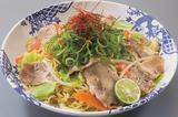 画像: 三元豚とたっぷり野菜の塩焼きそば[単品] 699円【瀬戸内グルメ】 徳島県産のすだちと、瀬戸内花藻塩を加えた、すっきり且つコクのある塩味やきそばです。