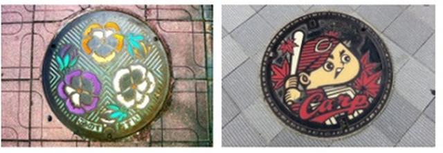 画像: ▼日本のマンホール蓋について 日本のマンホール蓋は全国各地でデザインが異なる「ご当地モノ」です。その土地に縁のある各所・名物品・キャラクター等が描かれており、日本人の繊細さや丁寧さが生み出した路上の文化物といわれています。