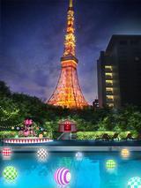 """画像1: """"ゆめかわ""""な世界が広がる、インスタ映えプールの大本命!CanCam × Tokyo Prince Hotel Night Pool"""
