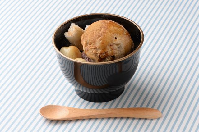 画像: ミキシンミクスリーム「深煎りほうじ茶アイスのあんみつ椀」630円