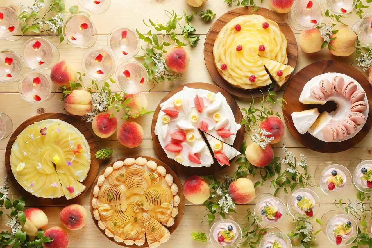 画像: 桃好きのためのスイーツビュッフェ