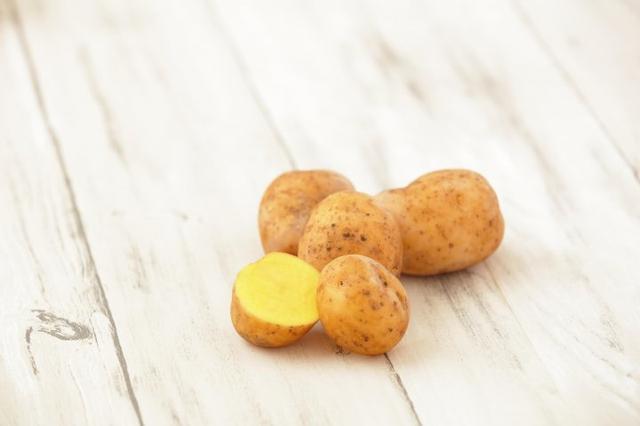 画像: インカのめざめ 小さい品種で栗のような食感が特徴です。シンプルに焼きじゃがいもで提供します。