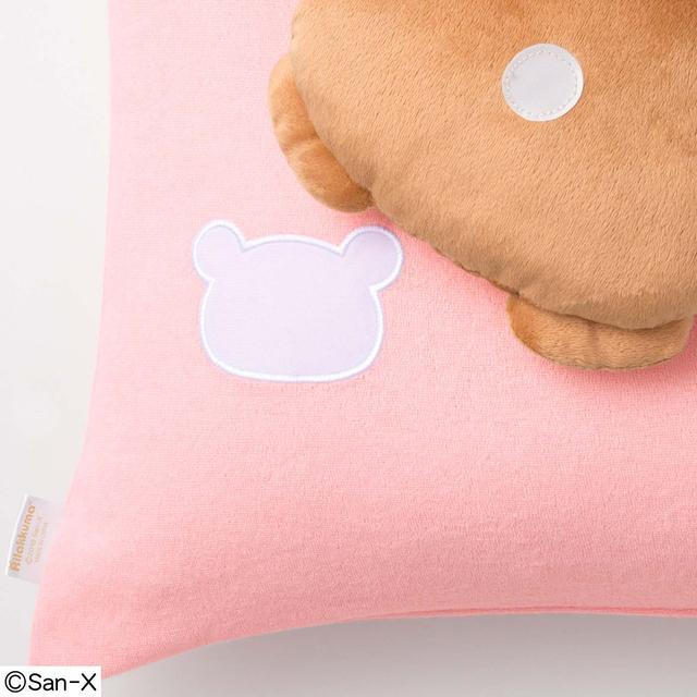 画像: リラックマたちは面ファスナーで取り外しができるから、枕カバーだけをこまめにお洗濯することができます。かわいいリラックマ形をした面ファスナーは、顔がふれても痛くない素材です。