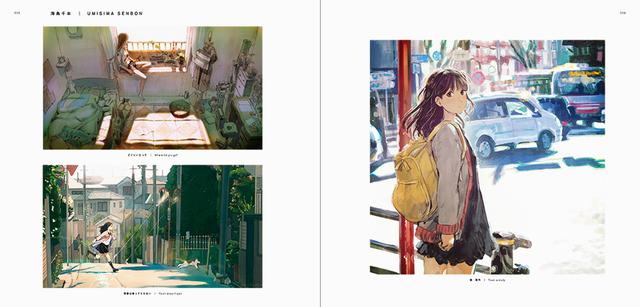 画像: 海島千本(左上)「どこにいたって」(左下)「青春は待ってくれない」(右)「街 習作」